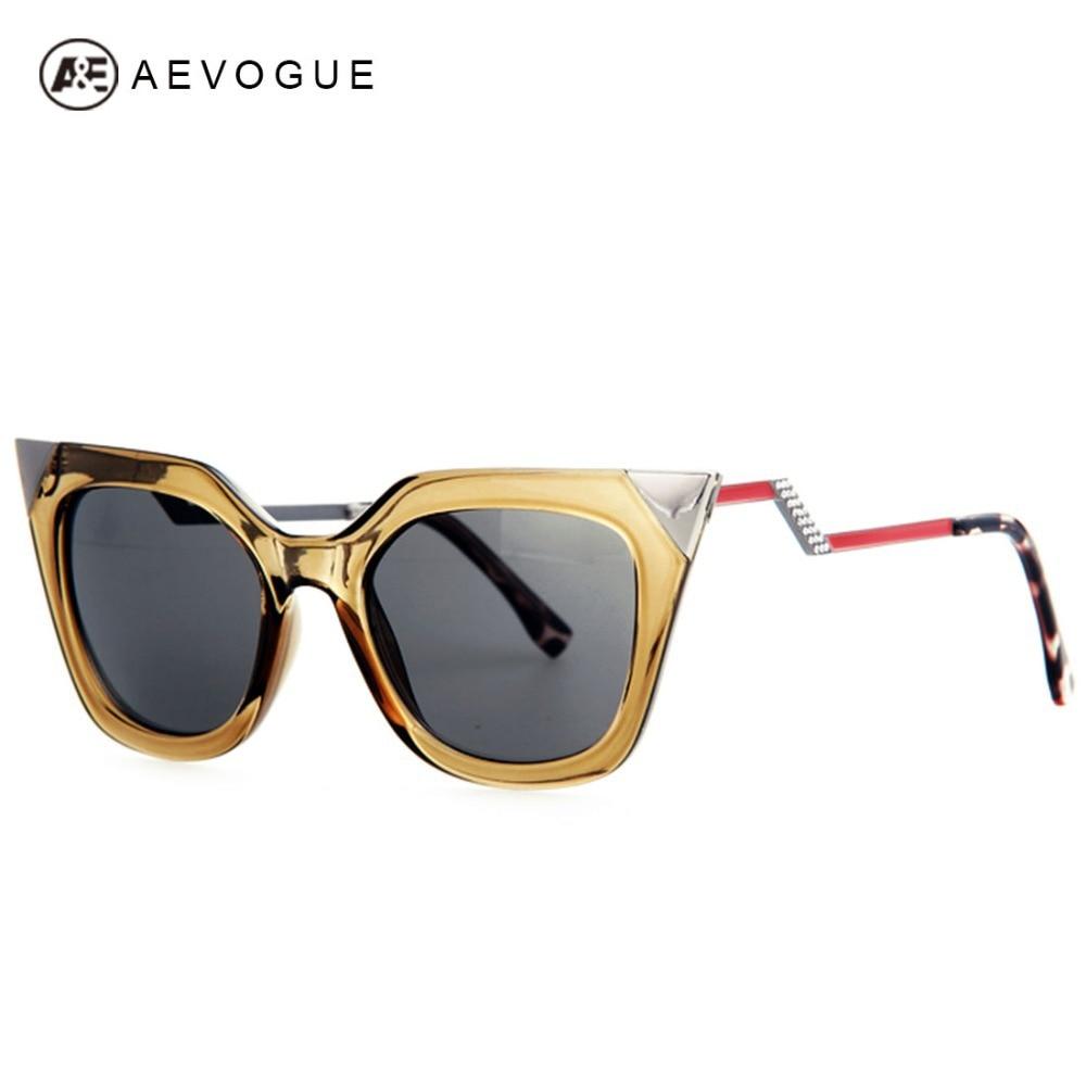 AEVOGUE Brand Cat Eye Bending Temple Sunglasses Women Good quality Sun Glasses Rhinestone Decoration Oculos UV400 AE0203<br><br>Aliexpress