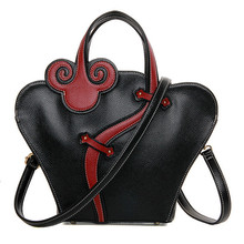 Chinese traditional unique Qi Pao style women hand tote multi purpose classic shoulder bag casual crossbody bag red/black