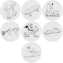 22mm stainless steel sprots skateboard skate skiing fight coach boat races locket window plate floating locket charm backplate