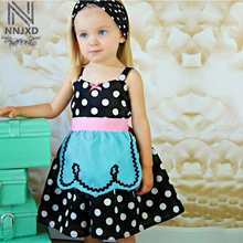 New Baby Girl Apron Dress Tutu Cosplay Dress Up Off The Shoulder Clothes For Toddlers Kid Party Dresses For Girls Size 1 2 3 4 5