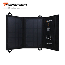 TOPROAD 7W Portable Foldable Solar Panel Battery Charger Powerbank USB Charging for Cellphone MP3/4 Travel Outdoor Power Bank