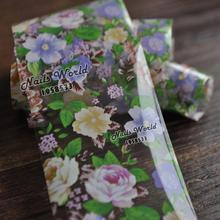 Beauty Flowers in Garden Transfer Foil Nail Art Stickers For Nails DIY Decorations Tools S453(China)