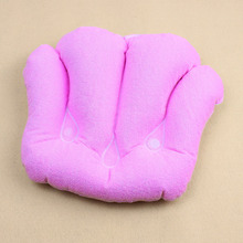 1 Pc Pink Shell Soft Inflatable Bath Pillow Massager 30*25 cm High Quality Free shipping(China)
