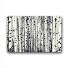 CHARMHOME SANMOU Custom Birch Tree Pattern Natural Coco Coir Door mat(China)