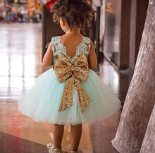 Kids Baby Girl Dresses Clothing Tops Bow Party Cute Sleeveless Ball Gown Bowknot Dress Clothes Girls New Outfit 2017