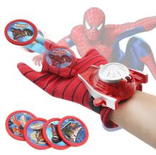 Spider man Launcher Toys For Kids Boys Captain America Iron man Hulk Batman Glove Launcher Christmas Gift Cosplay Toys Spiderman(China)