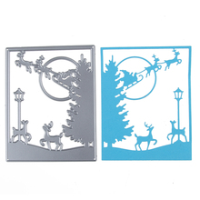 DIY Christmas Scene Metal Stencil Embossing Cutting Dies 3D DIY Scrapbooking Craft Photo Invitation Cards Decoration Craft(China)