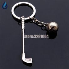 3D Metal Golf Car Key Chain Rings For Bmw E30 Vw Golf 7 Suzuki Grand Vitara Hyundai Solaris Buick Keychain Keyring Souvenir Gift(China)