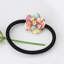 Cute  Flower Elastic Hair Rope Ties Hairband Headwear Elastic Rubber Bands Women Ponytail Holder Hair Accessories