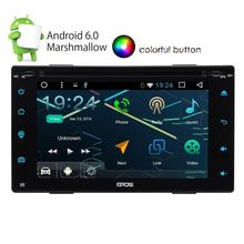 free camera+Car DVD Car Console 2din Car Radio GPS Navigation 2din Android 6.0 WI-FI Bluetooth Car Radio USB/SD Universal Player(China)