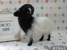 cute simulation goat toy lifelike handicraft black head sheep gift about 20x7x19cm