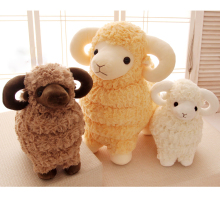 Candice guo plush toy stuffed doll cartoon animal little sheep cute lamb warm goat baby Christmas present kid birthday gift 1pc