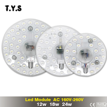 Buy LED Bulb 12w 18w 24w SMD 2835 Module 220V Panel Light Modern Ceiling Lamp Led Downlight Driver Led Energy Saving Wall Lamp for $3.20 in AliExpress store