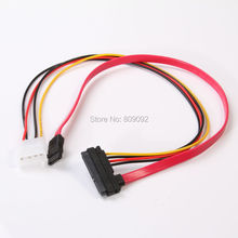 15+7 22Pin Power Data Sata to 4 Pin IDE Power SATA Data Hard Connector Combo Cable