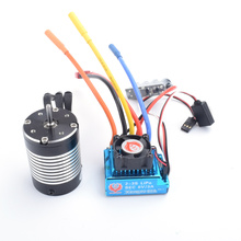 3650 3300KV 4P Sensorless Brushless Motor with 60A Brushless ESC (Electric Speed Controller) for 1/10 RC Off-Road Car