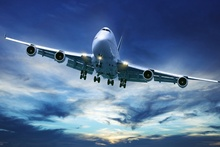 boeing 747 airliner aircraft flight in blue sky KC191 living room home wall modern art decor wood frame fabric posters