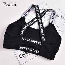 Buy Pzalza 2018 Woen Workout Tank Top Fashion Letter Cross Backless Women Tank Top Summer Hollow Black Top Femme Fitness for $6.22 in AliExpress store
