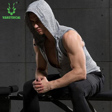 Men compression training shirt sport t shirt running gym fitness tights Sleeveless under tee Top Shirt clothing(China)