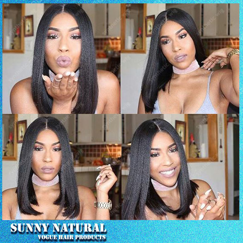 Natural Black Cheap Bob Wigs 12-14 Inch Short Black S Synthetic Lace Front Fiber Synthetic Lace Front Wigs Freeshiping<br><br>Aliexpress