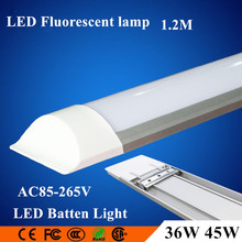 10pcs/lot 4FT 36W 45W 1200mm LED flat batten lamp Surface Mounted Ceiling Lamps Purification lights T5 T8 Tube Light AC85-265V