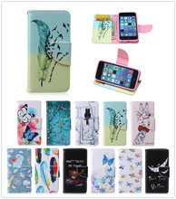 For Apple iPhone 5C Case Duplex Luxury Painting TPU Back Box Stand Wallet Slot Magnetic Flip Phone Leather Case For iPhone 5C