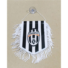 Italy Juventus FC 15cm*16cm Double Sides Christmas Decorations for Car Home Flag Banner Gifts(China)
