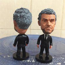 Soccerwe 2017 Season 2.55 Inches Height Football Coach Dolls La Liga BC Luis Enrique Figure for Birthday Gift Black Suit