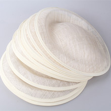 Ivory for select 30CM derby SINAMAY fascinator base Great for making fascinators party hats cocktail hats Millinery accessoires