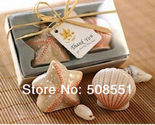 Free Shipping Starfish Shell Salt Pepper Ceramic Shakers Wedding decoration Party and holiday Favor and christmas supplies