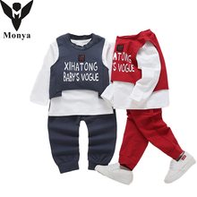 Clothes Suit For Boys Costumes For Girls Winter Set Letter Print Sports Costume Child School Uniform 3pcs Sets Clothing Suits