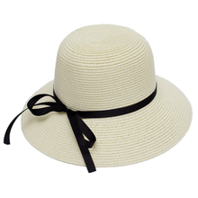 Muchique Sun Hats for Women Summer Hat with Wide Brim UV Protect Paper Straw Hat(China)
