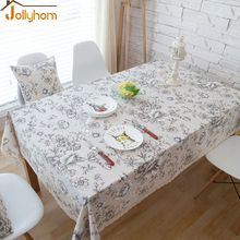Hot Sale Floral style anti-dirty Tablecloth Home Textile Fabric Dining/Tea table 55''/70''/78'' Accept Custom easy Washable(China)