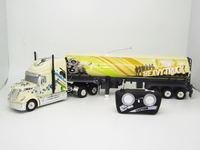 Kingtoy Detachable Electric Remote Control Big Size 1:32 RC 6CH container heavy truck with lights and sounds 4 Colors