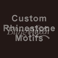 100PCS/LOT Custom Rhinestone Motifs Hot Fix Iron On Transfers