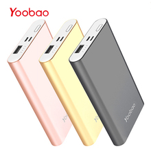 Yoobao Power Bank 10000 mAh For iPhone 7 8 X Small PowerBank Portable Charger External Battery For Samsung S8 Phone Pover Bank (China)