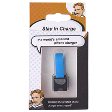 100pcs Smallest Portable Phone Charger Emergency Dry Cell Phone Charger AA Battery Emergency Charging Adapter for Smartphone