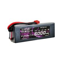 HRB Hard Case RC Car Lipo Battery 2S 7.4V 6000mAh 60C Bateria Lipo Remote Control Quadcopter 1/10 Traxxs Car(China)