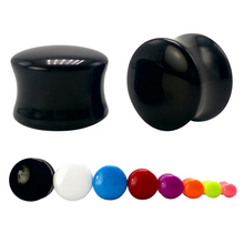 1 pair candy color medical acrylic ear plug gauges tunnel expander stretcher flesh tunnel bone bar body piercing jewelry