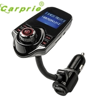 New Arrival Fashion Red  Car Kit Handsfree Wireless Bluetooth FM Transmitter MP3 Player USB LCD Modulator jn22