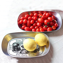 Wedding Supplies Fruits Plates Trays Iron Metal Floral Print Nuts Fruits Plate Tableware(China)