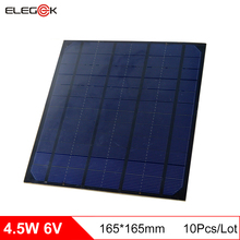 ELEGEEK 10 pieces 4.5W 6V Mono Solar Panel 750mA DIY Solar Cell Panel Module 6V for Mini Solar System Test 165*165mm