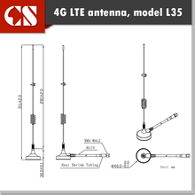 Free shipping 4G Lte Magnetic Antenna 698~2655MHz signal 5dbi 4g antenna outdoor,4G 3G GSM antenna