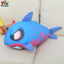 Creative Foam Particles Containing Plush Shark Toy Stuffed Doll Birthday Gift For Baby Kids Children Boy Home Shop Decor Triver