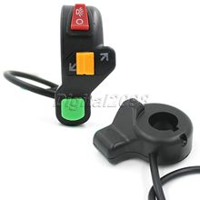 7/8 Handlebar Switch Motorcycle Scooter Dirt ATV Quad Handle Horn Switch Headlight Turn Signals On/Off Button Bullet Connector