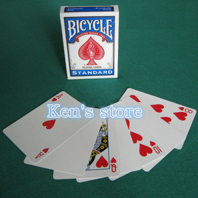 Your Choice FULL DECK Gaff Bicycle Blank,Double,Red,Blue,Back,Face Playing Cards