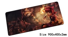 Annie mouse pad 900x400x2mm pad mouse lol notbook computer mousepad Dark Child gaming padmouse gamer keyboard mouse mats(China)