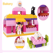 Educational Toys 76PCS Big Model Bricks Toys Compatible With Building Blocks Bakery Store for Children Christmas Gifts(China)