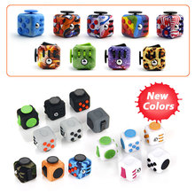 ABS Fidget Cube Toys Desk Spin Magic Cubes Stress Relief Toy ABS Material Puzzle Cube EDC Toys Anti Stress Gifts for Kids Adults
