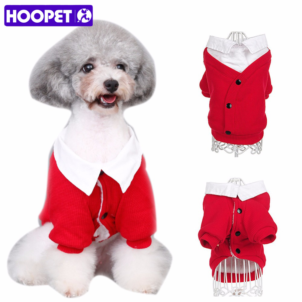 HOOPET pet clothes Soft Casual Plaid Shirt Gentle Dog Western Shirt Clothes Dog Shirt Wedding Tie
