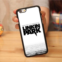 linkin park popular band Design Soft Rubber Mobile Phone Cases For iPhone 6 6S Plus 7 7 Plus 5 5S 5C SE 4 4S Cover